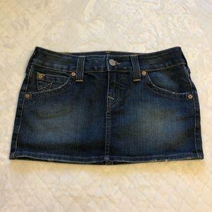 True Religion Skirts - True religion mini jean skirt/ 28